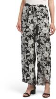 Juniors Tropical Print Carwash Pants