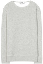 Acne Studios Carly Mélange Cotton-blend Sweatshirt