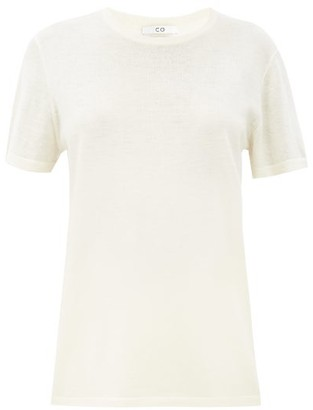 Co Round-neck Knitted Cashmere T-shirt - Ivory