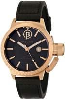 Trafalgar Ballast Men's BL-3131-03 Machined Analog Display Swiss Quartz Black Watch