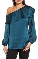 Halogen Women's One-Shoulder Ruffle Top