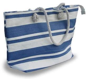 New England canvas cream/ nautical tote shopping bag