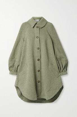 KING & TUCKFIELD Oversized Wool-tweed Coat - Army green