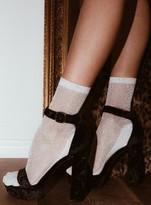 Silver Suki Glitter Socks
