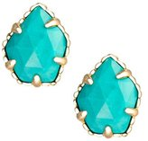 Kendra Scott Gold Plated and Turquoise Color Magnesite Tessa Stud Earrings