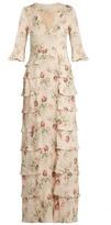 Vilshenko Ivy floral-print silk-georgette gown
