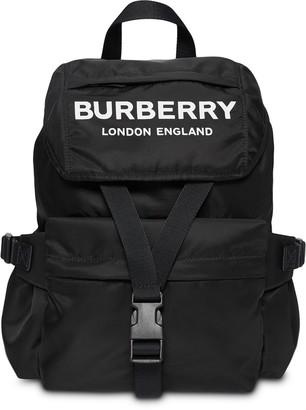 Burberry Logo Print Backpack