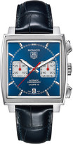 Tag Heuer Monaco automatic blue dial strap watch