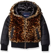 Limited Too Little Girls' Faux Fur Bomber Jacket