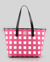 Kate Spade Harmony Check Diaper Bag, Pink/Cream