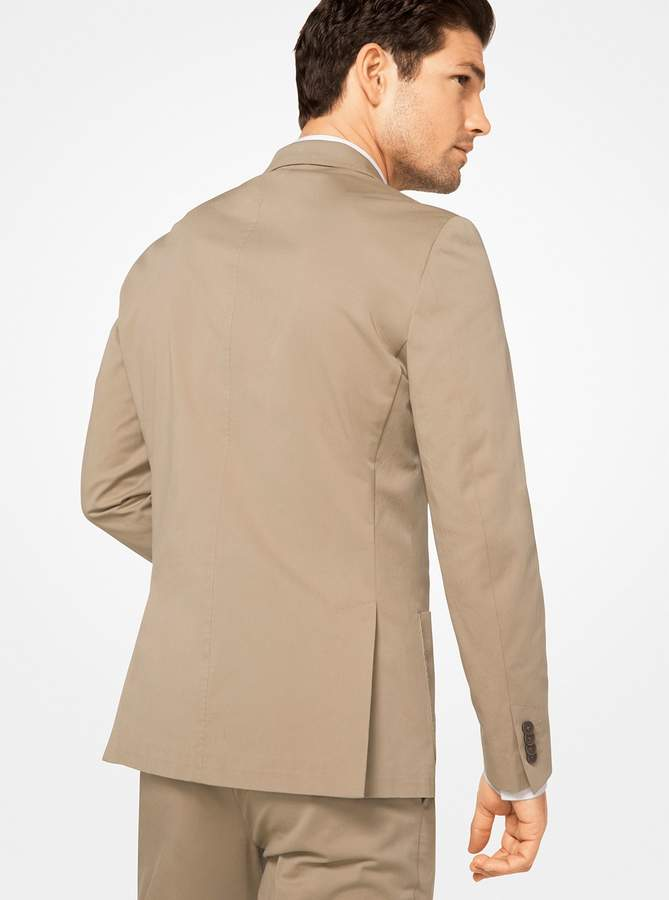 Michael Kors Slim-Fit Stretch-Cotton Blazer