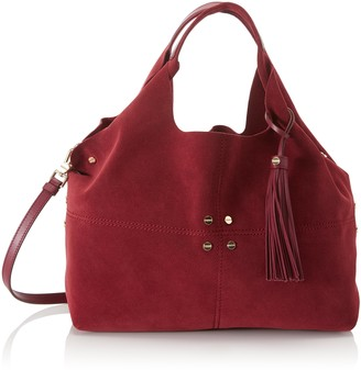 Borbonese Women's 954758J25 Shoulder Bag Red Red (Bougainvillea J25)