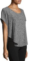 Beyond Yoga Scalloped Jersey Tee, Black/White