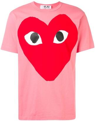 Comme des Garcons oversized heart print T-shirt