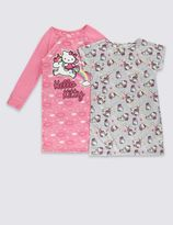 Marks and Spencer 2 Pack Hello Kitty Pyjama tops (1-7 Years)