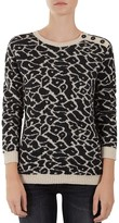Gerard Darel Litchi Shoulder-Button Leopard-Print Sweater