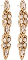 Oscar de la Renta Teardrop Framed Crystal P Earring