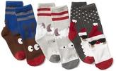 Gap Festive glow-in-the-dark crew socks (3-pack)