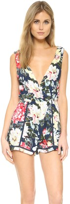 MinkPink Women's Nothing Like The Wild Print Playsuit