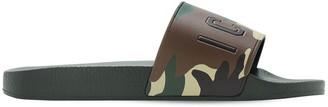 DSQUARED2 Icon Print Rubber Slide Sandals