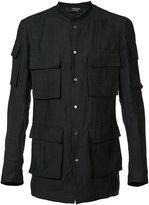 Tom Rebl pocket shirt - men - Viscose/Linen/Flax/Polyamide - 46