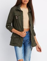Charlotte Russe Embroidered Anorak Jacket