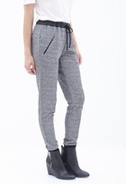LOVE21 LOVE 21 Faux Leather-Trimmed Joggers
