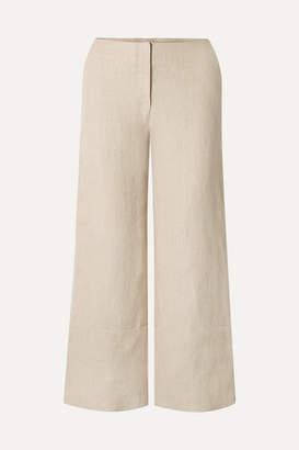 Rosie Assoulin Cropped Hemp Wide-leg Pants - Beige