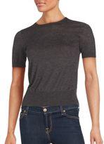 Saks Fifth Avenue BLACK Cashmere Blend Short Sleeve Top