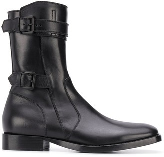 Ann Demeulemeester Buckle-Strap Ankle Boots
