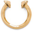Jennifer Fisher Double Nail Ring in Brass
