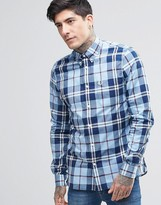 Fred Perry Shirt In Slim Fit In Bold Check In Blue