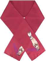 Paul Smith rabbit print scarf - men - Silk - One Size
