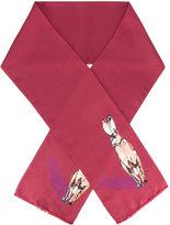 Paul Smith rabbit print scarf