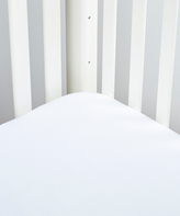 White Flannel Crib Sheet