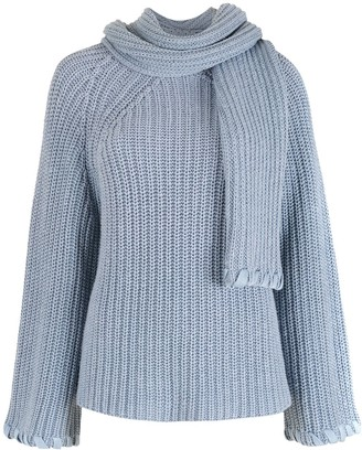 Nk Knitted Blouse With Scarf