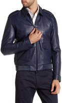 HUGO BOSS Lerko Collared Genuine Lamb Leather Jacket