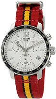 Tissot Men's 'Quickster' Swiss Quartz Stainless Steel and Nylon Watch, Multi Color (Model: T0954171703708)
