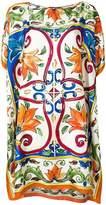 Dolce & Gabbana boxy handkerchief tunic top