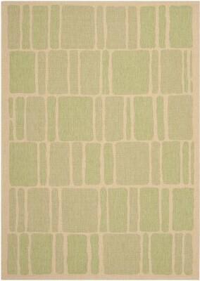 """Martha Stewart Blocks Wool Green/Beige Area Rug Rugs Rug Size: Rectangle 2'7"""" x 5'"""