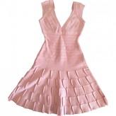 Herve Leger Pink Cotton - elasthane Dress for Women