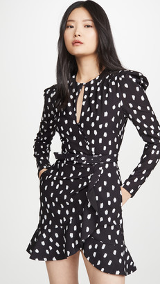 Jonathan Simkhai Polka Dot Belted Wrap Dress