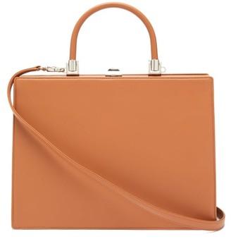 Rodo Le Marais Frame-top Leather Handbag - Tan