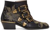 Chloé Black & Gold Susanna Boots