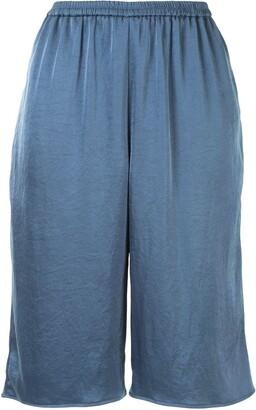 Sally LaPointe Crinkle Satin Shorts
