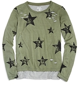 Flowers by Zoe Girls' Distressed Layered Star Print Tee - Big Kid
