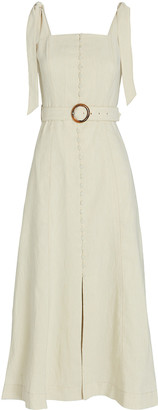 Jonathan Simkhai Dawn Linen-Blend Apron Dress