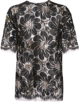 Rochas sheer embroidered blouse - women - Lurex/Polyamide/Rayon - 38