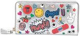 Anya Hindmarch Stickers metallic wallet - women - Goat Skin - One Size