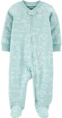 Carter's Baby Animal 2-Way Zip Cotton Sleep & Play